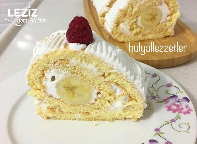 Şahane Muzlu Rulo Pasta