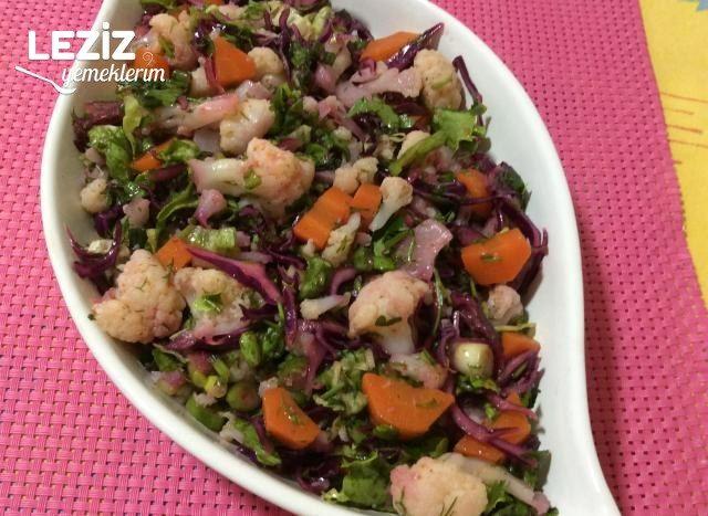 Mor Lahanalı Kış Salatası