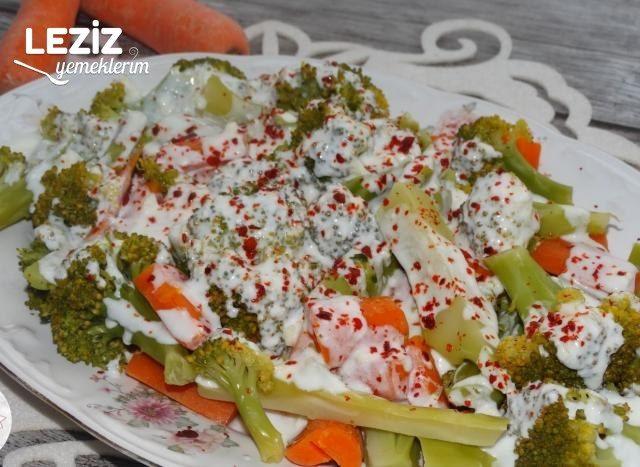 Yoğurtlu Brokoli Salatası Yapılışı