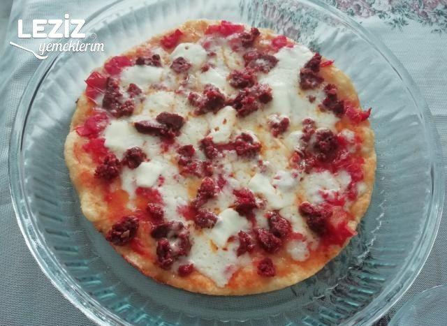 Tencere Pizzası (5 Dakikada Pişiyor)