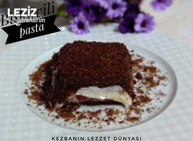Borcamda Bisküvili Çikolatalı Pasta