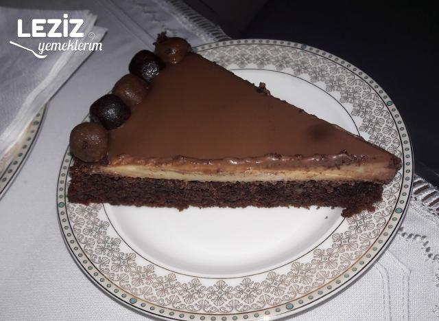 Ganajlı Muhallebili Kakaolu Kek