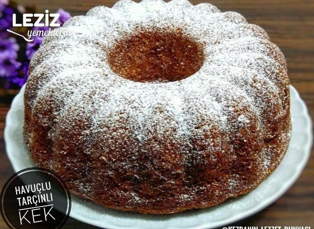 Leziz Havuçlu Tarçınlı Kek