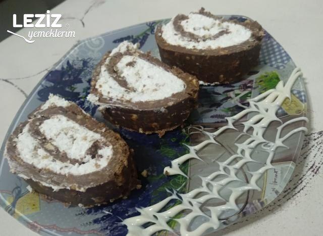 Bisküvili Rulo Pasta Yapılışı