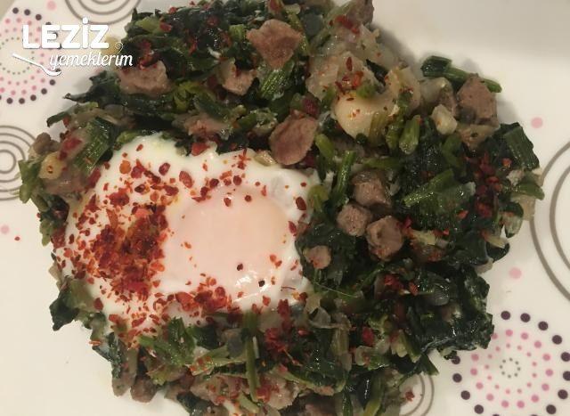 Biftek Etli Yumurtalı Ispanak