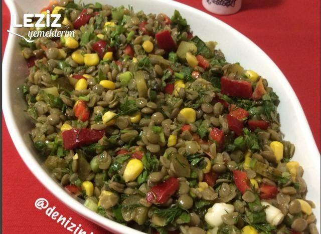 Yeşil Mercimek Salatası Yapımı