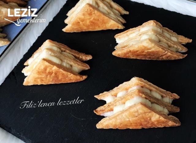 Üçgen Milföy Pasta (Videolu Tarif)
