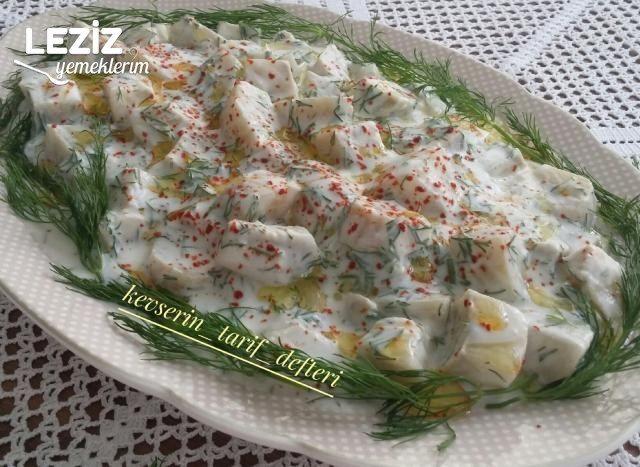 Yoğurtlu Enginar Salatası Yapımı