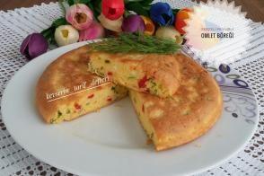 Sebzeli Peynirli Omlet Böreği