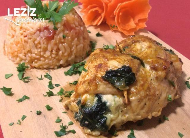 Soyalı Ispanaklı Tavuk Göğüs Rulo