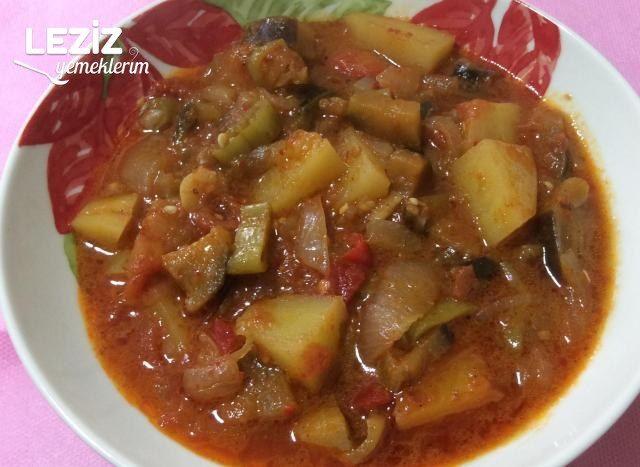 Zeytinyağlı Patatesli Patlıcan Yemeği