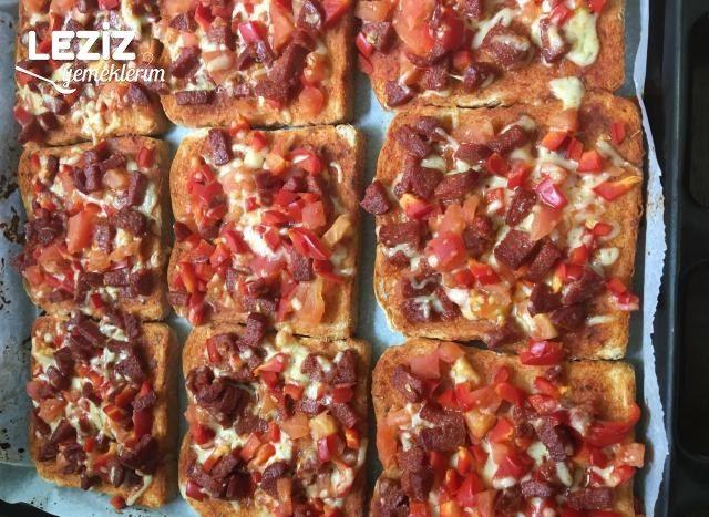 Tost Ekmeginden Pizza Tarifi