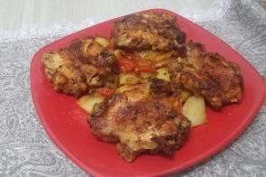Fırında Tavuk Patates Yemeği (Güveç Tadında)