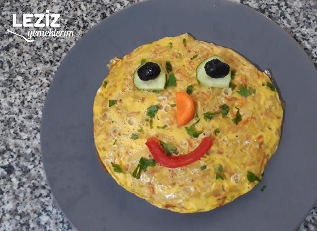 Patatesli Havuçlu Omlet (Çocuklara Özel Kahvaltılık)