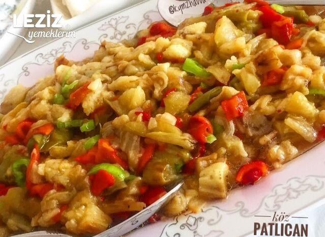 Köz Patlıcan Biber Salatası