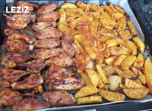 Nefis Sosuyla Fırında Tavuk Patates