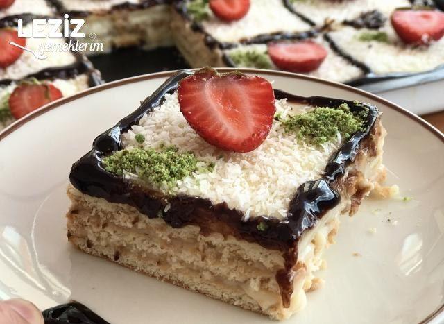 Bisküvili Pasta Tarifi (Aşama Fotoğraflı Anlatım)