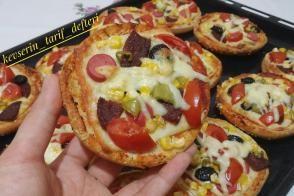 Hamburger Ekmeği Pizzası (Daha Yumusak Ve Daha Doyurucu)