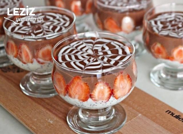 Çikolatalı Haşhaşlı Muhallebi Tarifi