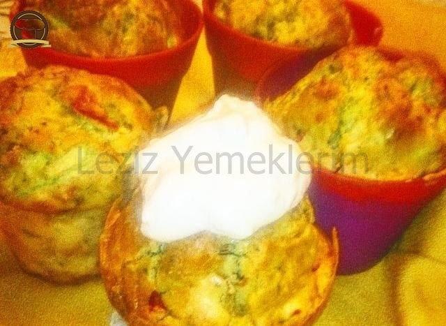 Mantarlı, Kabaklı, Mısırlı Muffin