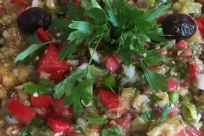 Patlıcanlı Yaz Salatası
