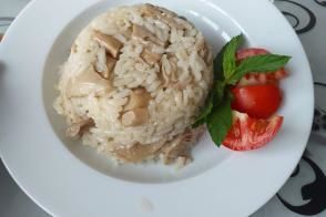 Istiridye Mantarlı Pirinç Pilavı