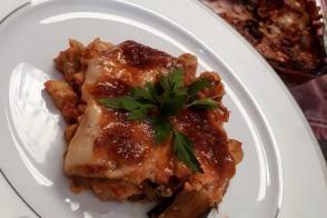 Tavuklu Patlıcan Lazanya