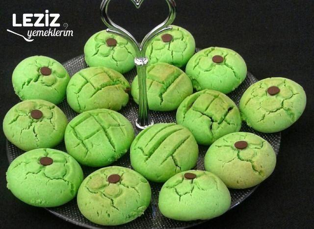 İçi Çikolatalı Yeşil Kurabiye
