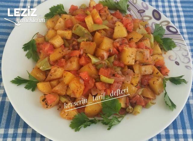 Kahvaltıya Enfes Sebzeli Patates