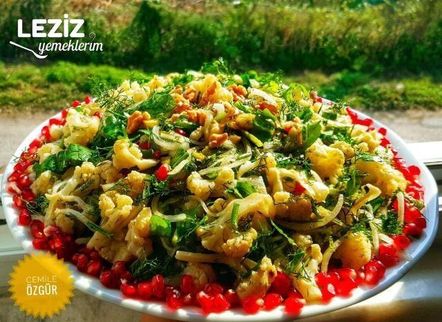 Fırınlanmış Karnıbahar Ve Roka Salatası