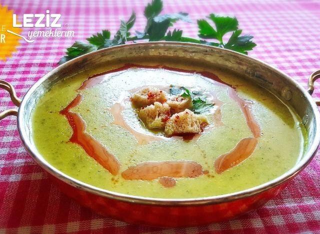 Patatesli Kereviz Sapı Çorbası