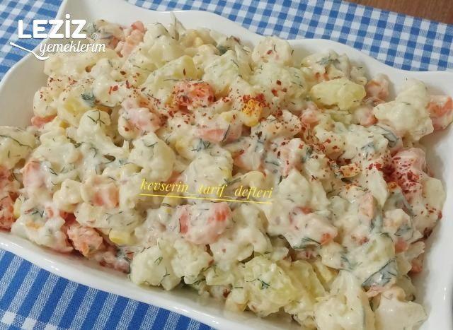 Patatesli Havuçlu Karnabaharlı Salata