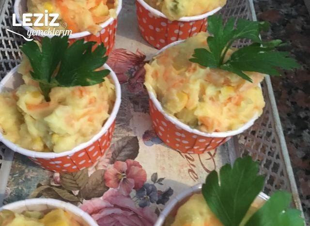 Muffin Kabında Patates Salatası