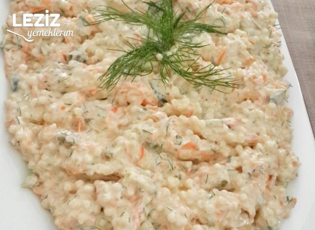 Yoğurtlu Havuçlu Kuskus Salatası Tarifi