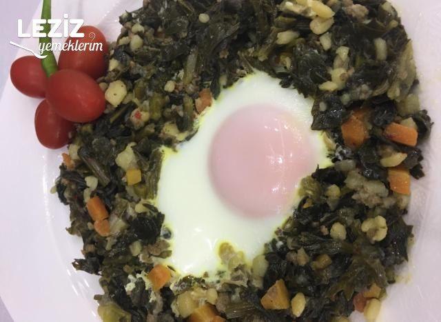 Yumurtalı Kereviz Yaprağı Yemeği