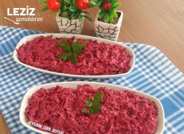 Yoğurtlu Nefis Kırmızı Pancar Salatası