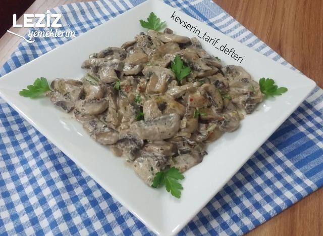 Et Tavuk Köfte Yanına Kremalı Mantar Nasıl Yapılır