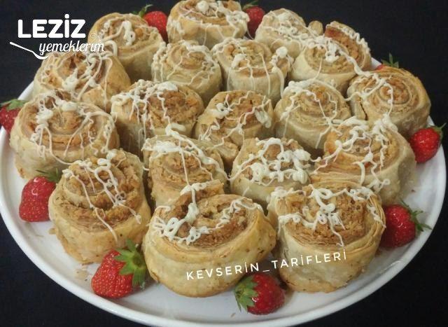 Tahinli Cevizli Milföy Çörekleri