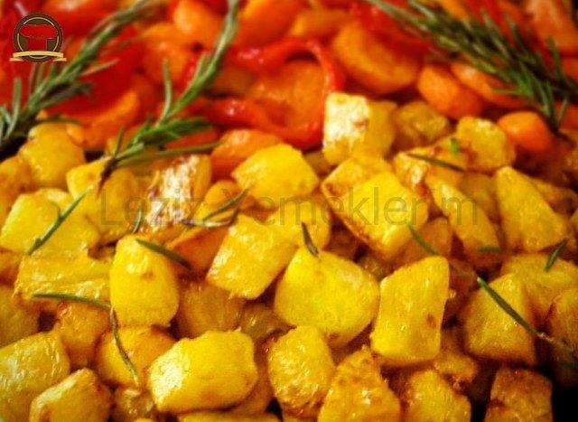 Bal Kabağı, Havuç, Kırmızı Biber Kızartması