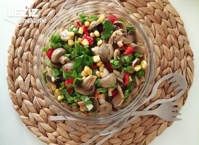 Renkli Mantar Salatası