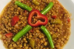 Karaşimşek (Yeşil Mercimek) Yemeği