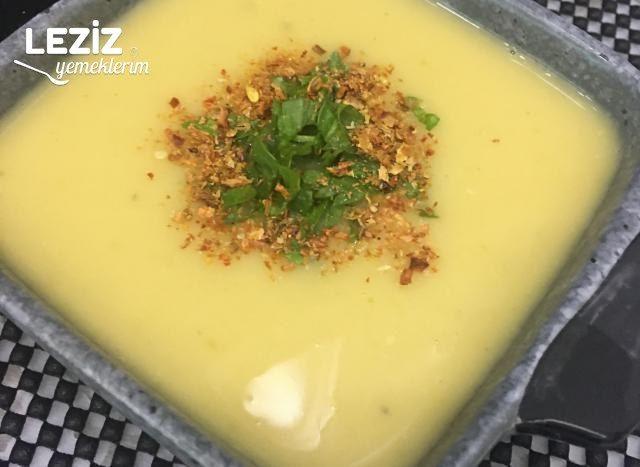Kerevizli Sütlü Sebze Çorbası