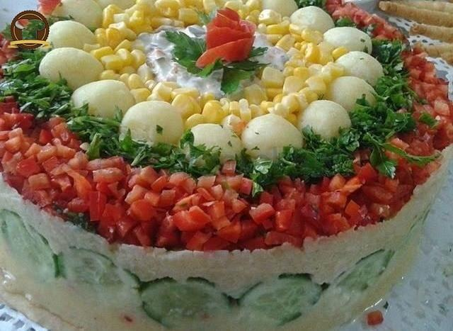 Pasta Görünümlü Patates Salatası
