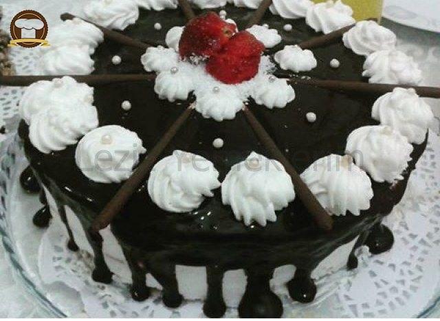 Çikolatalı Yaş Pasta Yapımı