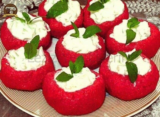 Kırmızı Pancarlı Bulgur Çanakları
