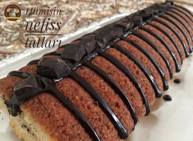 Mantolu Çikolata Parçalı Kek
