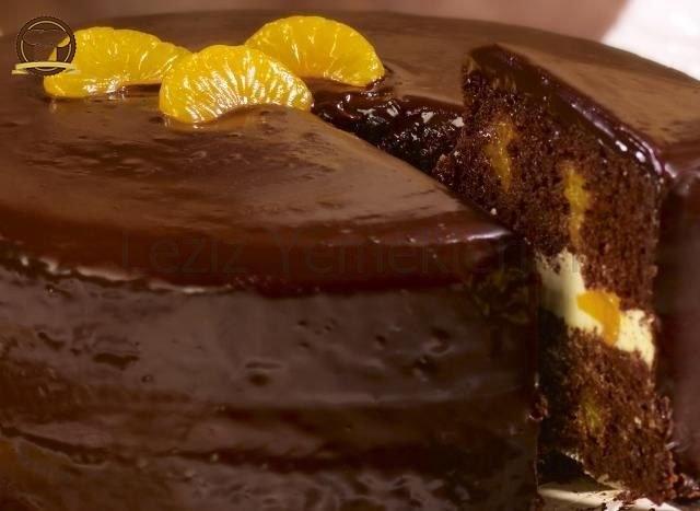 Mandalinalı Çikolatalı Pasta