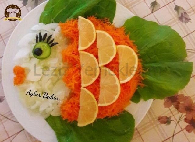 Balık Şeklinde Salata