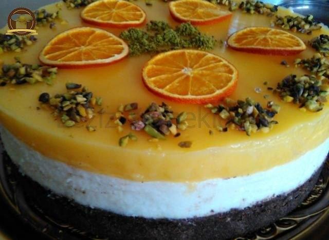 Portakallı Sütlü İrmik Pastası