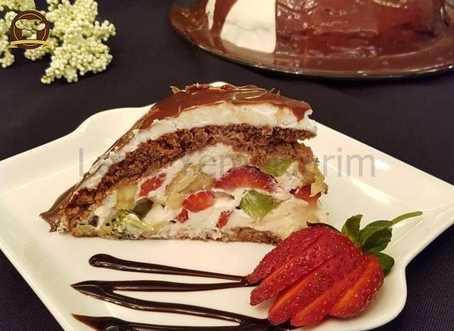Meyveli Kubbeli Pasta